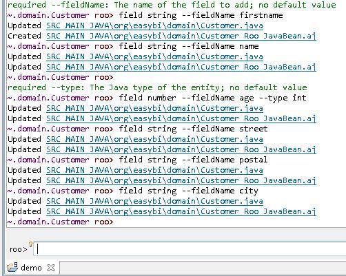 Génération de fichiers aspectJ