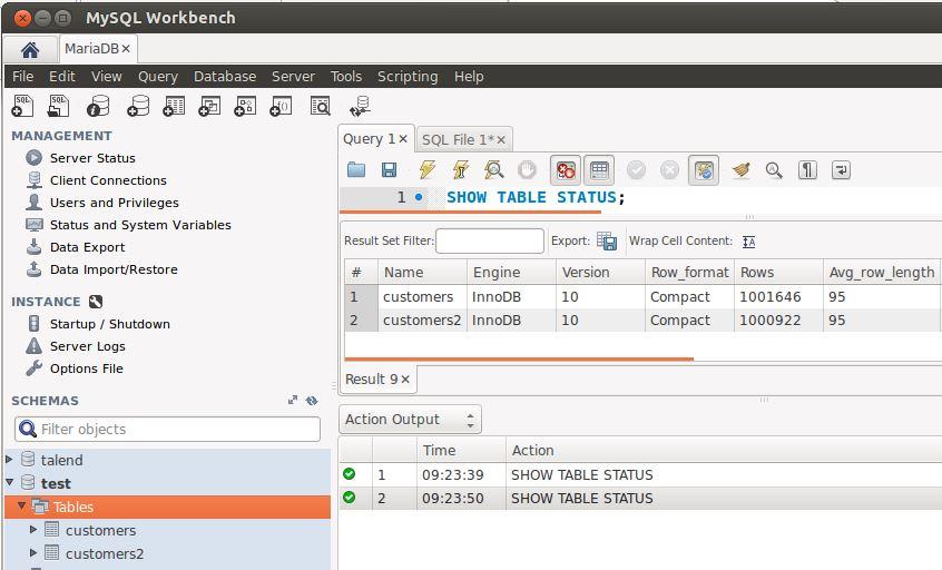 Mysql Workbench 6.0 avec MariaDB